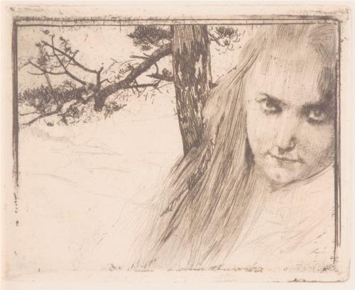 Girl in Landscape - Koloman Moser