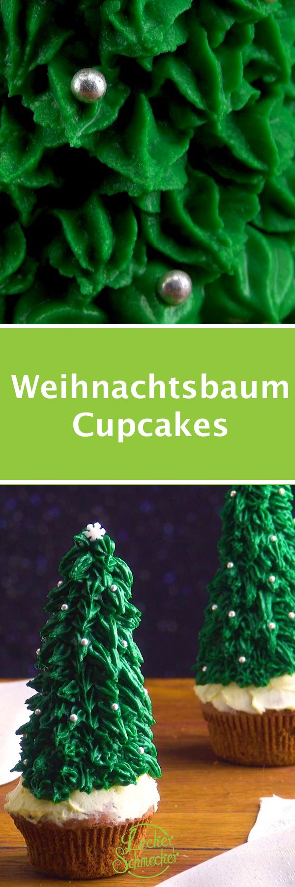 weihnachtsbaum cupcake tannenbaum muffin gr nes. Black Bedroom Furniture Sets. Home Design Ideas