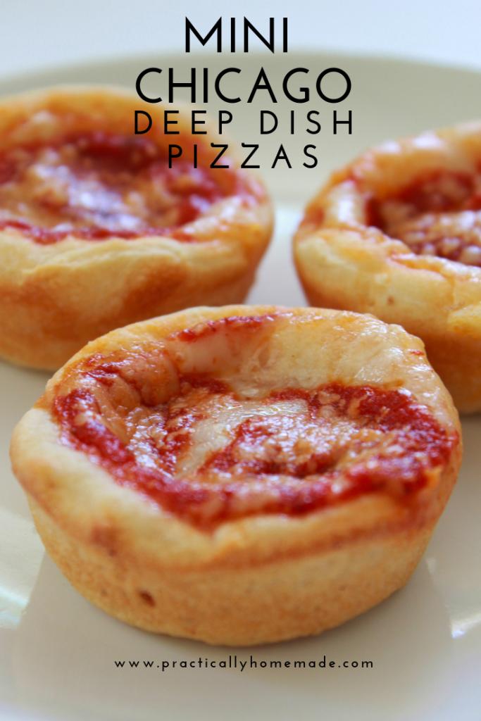 Mini Chicago Deep Dish Pizza Recipe Deep Dish Pizza Recipe