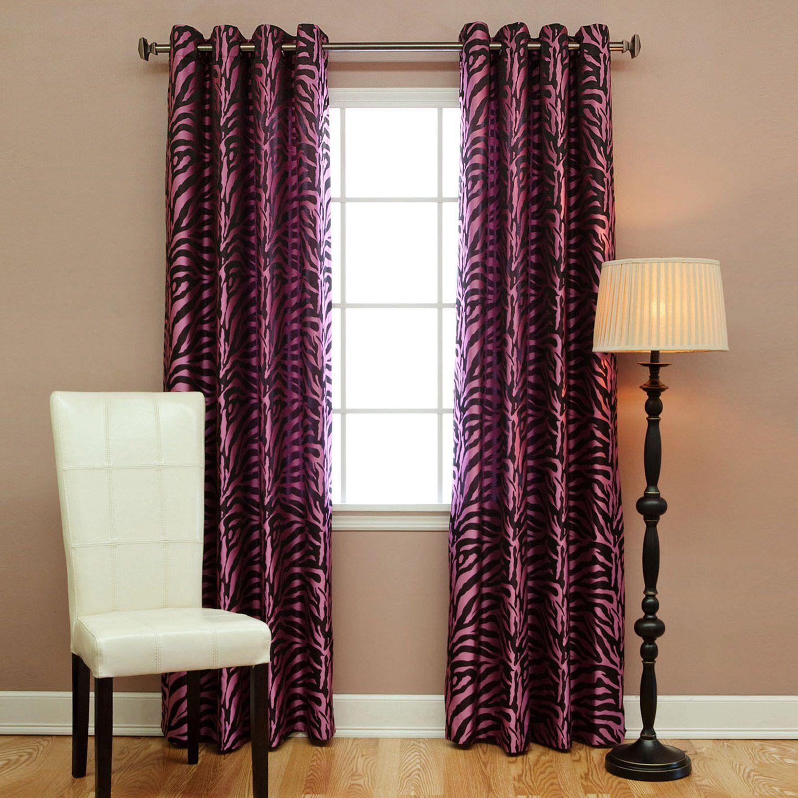 Zebra window coverings  best home fashion zebra print grommet curtains  kczebrachoco