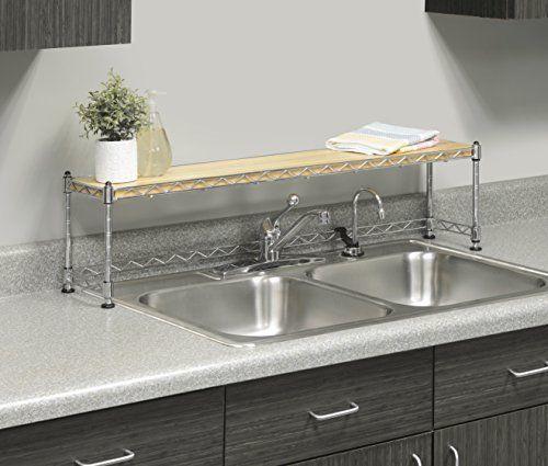 Over The Sink Shelf Organize Home Kitchen Counter Bathroom Storage