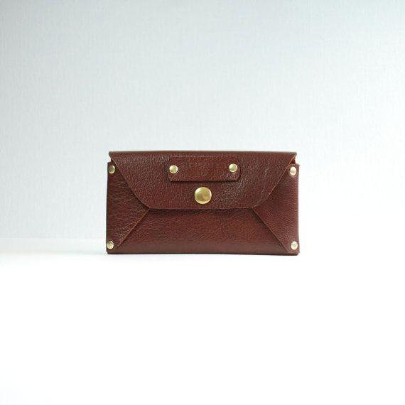 Envelope wallet / Woman's handmade leather wallet / Envelope clutch