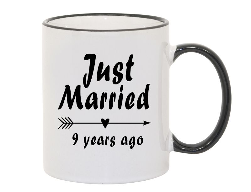 9th Wedding Anniversary Gift Just Married 9 Year Anniversary Funny Coffee Cup Mug Gift 9th Wedding Anniversary Anniversary Funny 8th Wedding Anniversary Gift