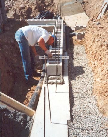 Concrete block is then perfectly leveled as this is the for How to build a concrete block wall foundation