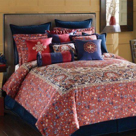 Amazon.com: Rose Tree Kashmir Queen Comforter Set ...
