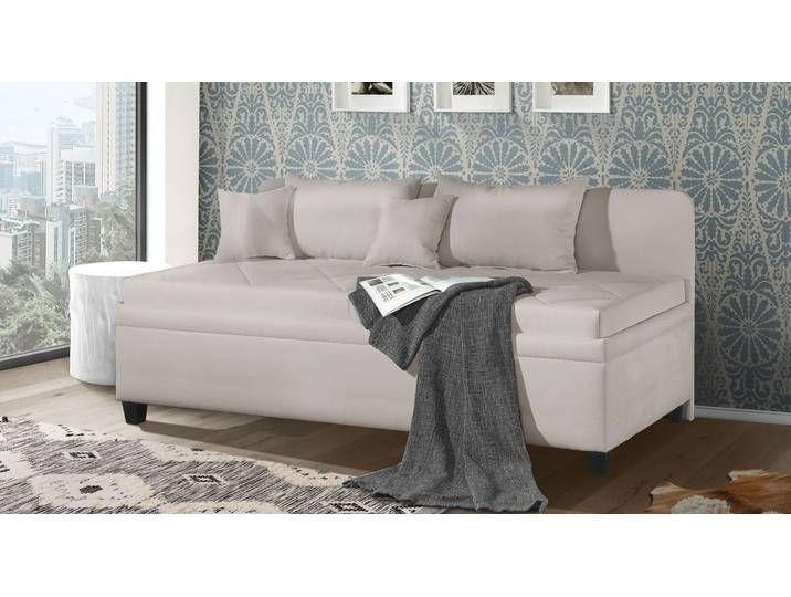 Bettkasten-Sofaliege 90x200 cm braun - Kamina Komfort - Polsterliege
