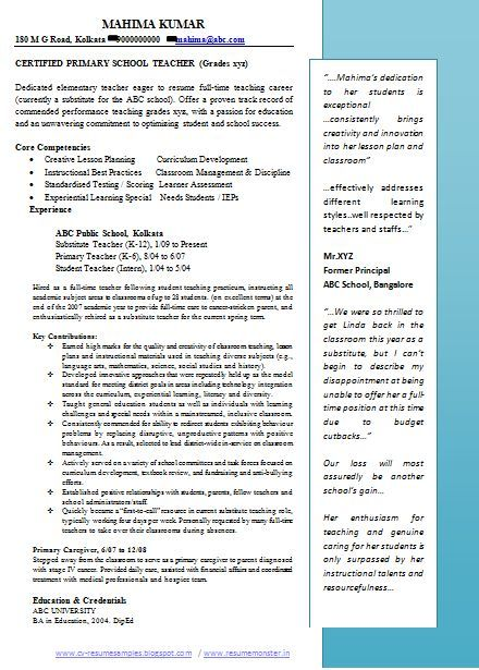 Cv For Teachers Teacher Professional Resumes Since 1990 Our Resumes Helps Governments Teachers Inde Teacher Resume Examples Teacher Resume Jobs For Teachers