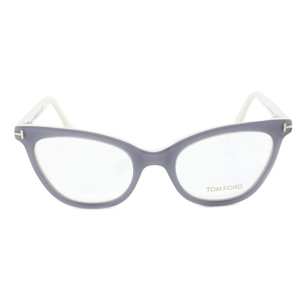 Tom Ford FT5271 020 Silver Grey Cateye Eyeglass Frames - Size 51 ...