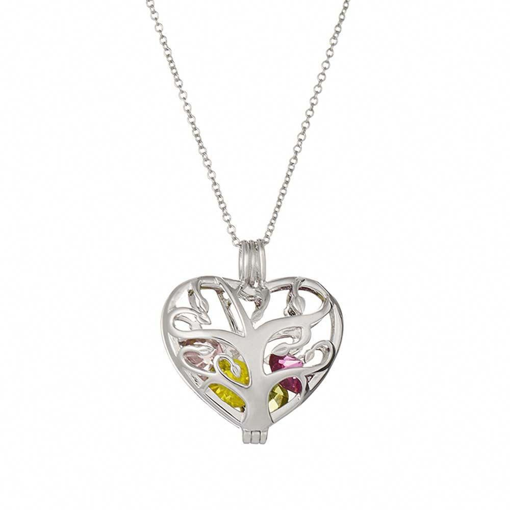 Locked Heart Sterling Silver Locket Customize With Floating