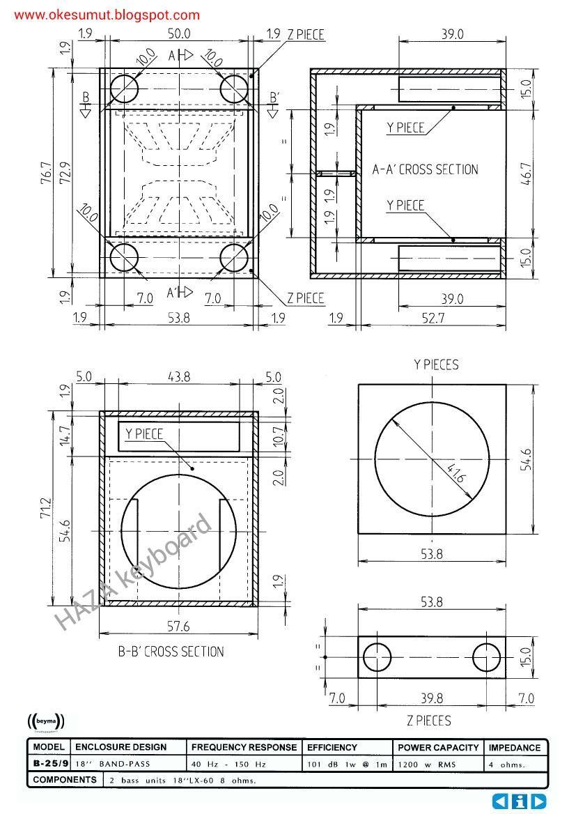 Pin by My Info on PA in 2019   Speaker plans, Speaker design, Diagram