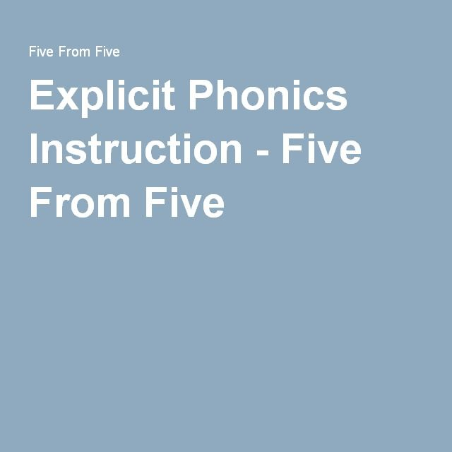Explicit Phonics Instruction Five From Five Cafe Pinterest