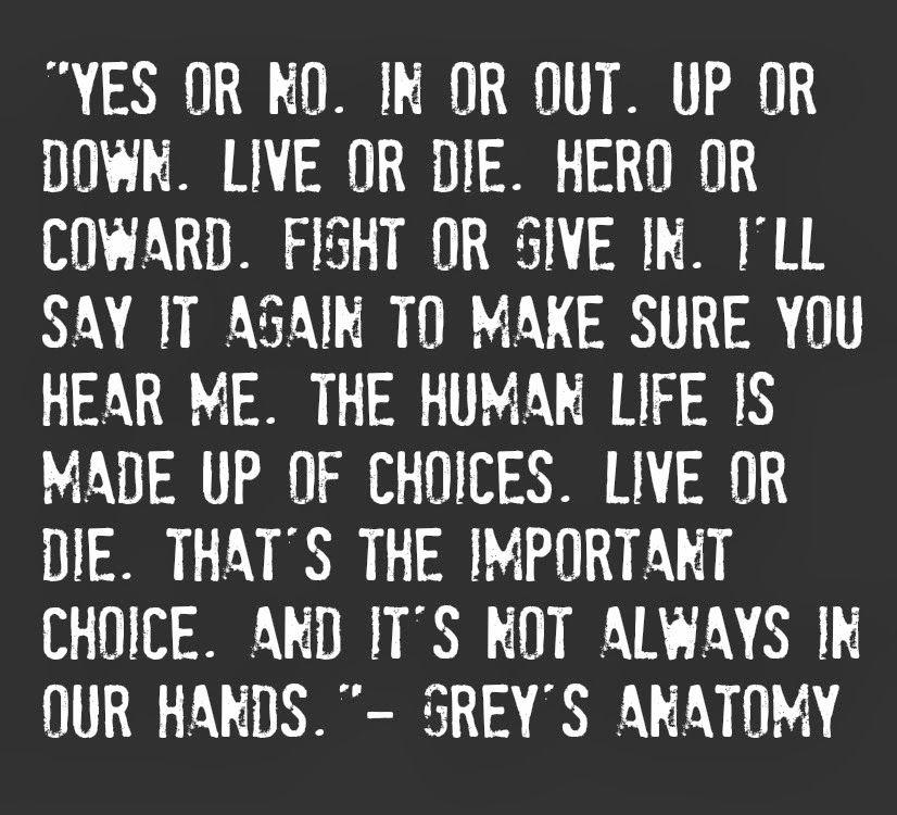 Live or Die? | Grey\'s Anatomy | Pinterest | Anatomía de grey, Las ...