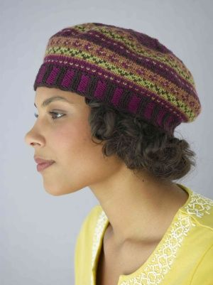 Free Knitting Pattern Hats Pemberly Tam Fair Isle Pinterest