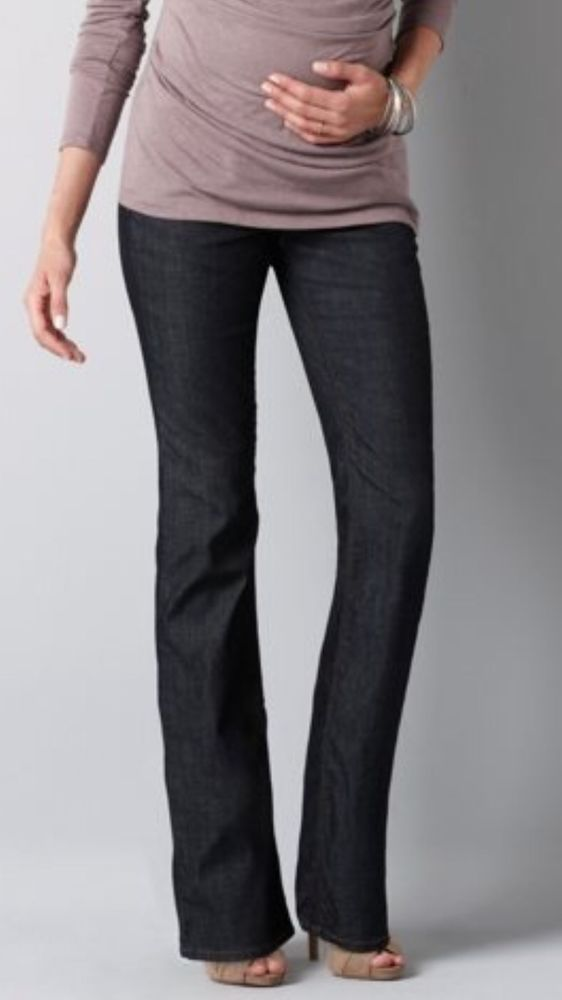 323ecc722b052 Ann Taylor Loft Original Boot Cut Stretch Maternity Jeans Size 8 X 32 New!  $79 #AnnTaylor #BootCut