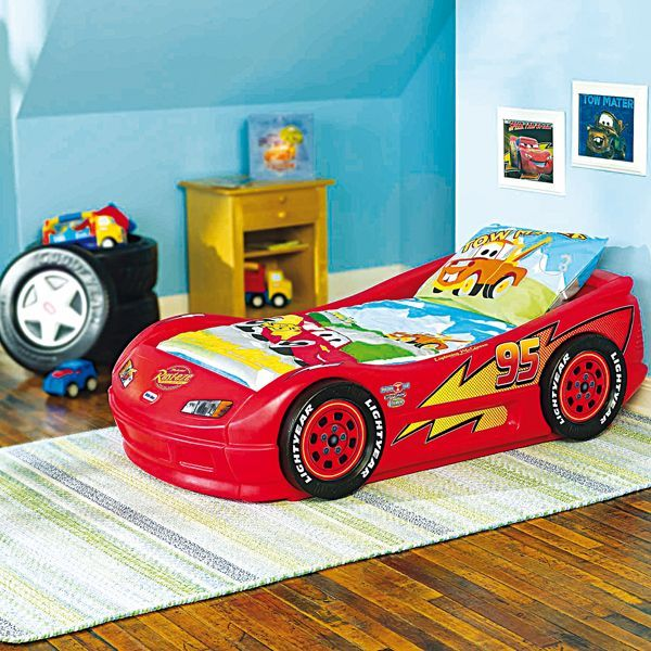 Lit Flash Mac Queen Rouge D Co Chambre Cars Gar On