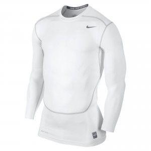 NIKE Pro Combat Core Long Sleeve Baselayer Shirt Mens - White