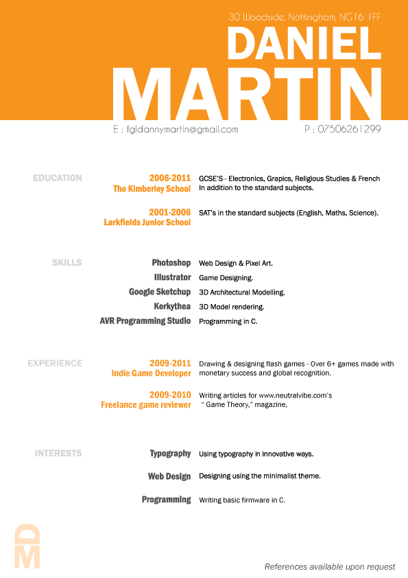 Different, fun, simple and professional. | Resume ...