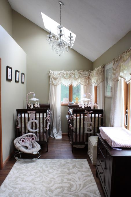 French Style Twin S Nursery With