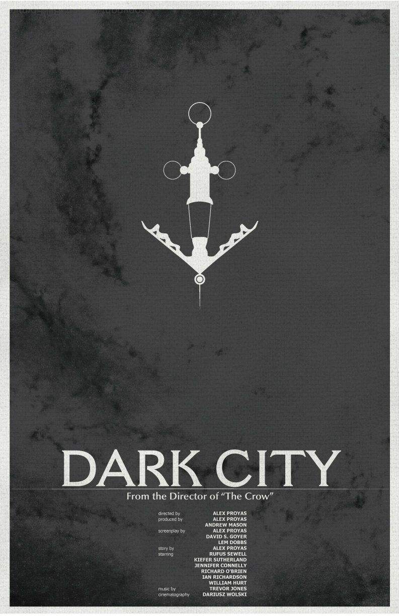 Dark City, Vintage Movie Poster #2 // Vile and Needle with Spiral Galazy…