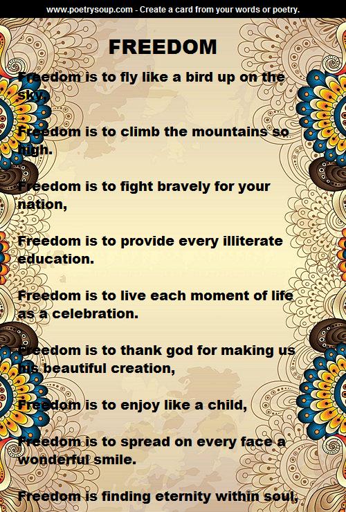 Freedom Poetry Art Freedom Poems Poetry Art Diy Wall Painting