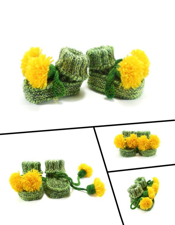 Hey, I found this really awesome Etsy listing at https://www.etsy.com/listing/229078151/knitted-baby-booties-green-and-yellow