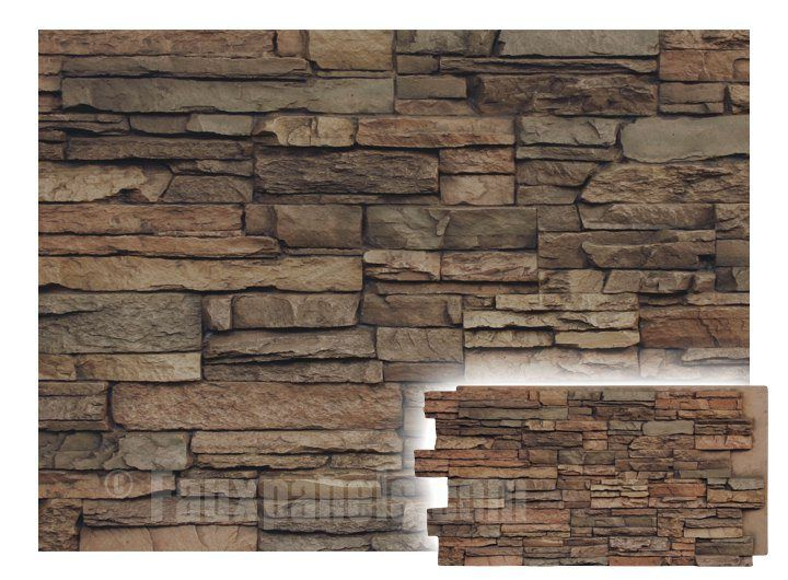 NextStone Tuscan Brown Castle Rock Faux Stone Veneer Panels