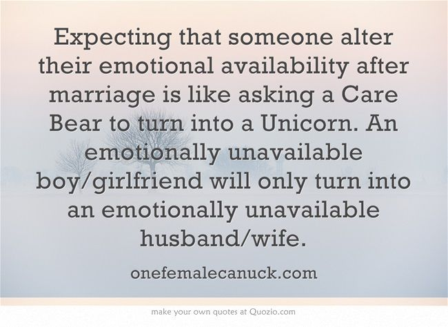 Emotionally unavailable wife