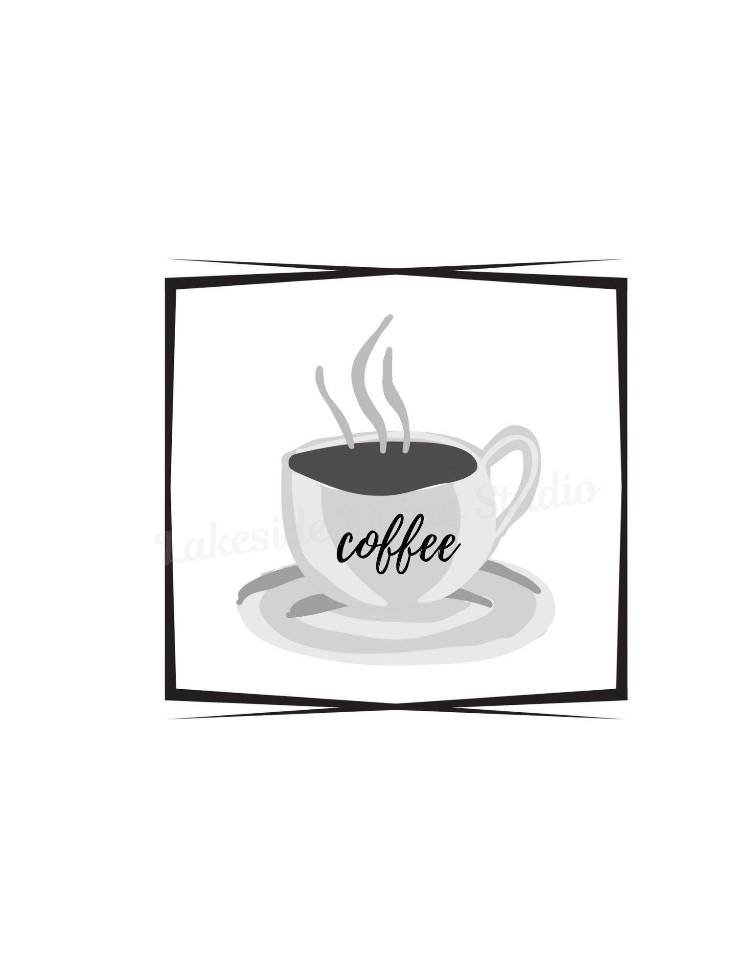 Coffee Sign Coffee Cup Print Kitchen Decor Printable Wall Etsy Coffee Signs Coffee Print Printed Cups