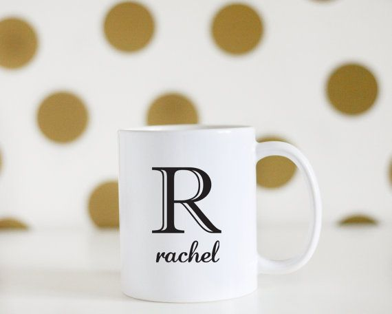Custom Monogram Initial Mug Custom Name Mug Birthday Gift