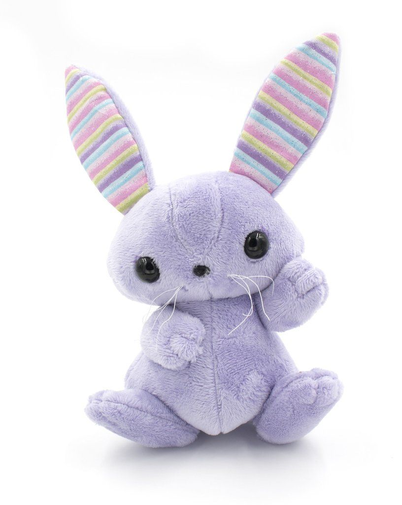 Purple Bunny Stuffed Animal, Plush Toy, Plushie Rabbit - BeeZeeArt ...