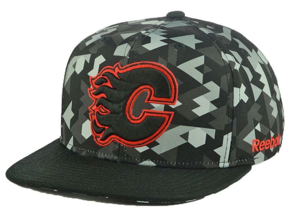 4468d7580af Calgary Flames Reebok NHL Geo Tonal Snapback Cap