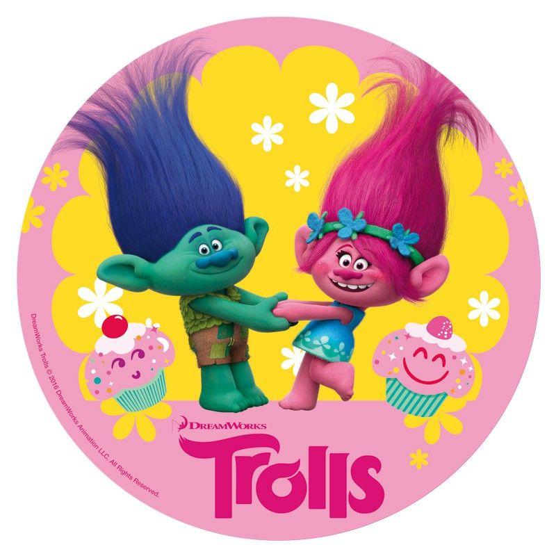 Resultado de imagem para trolls poster redondo trolls - Pegatinas pared infantiles disney ...