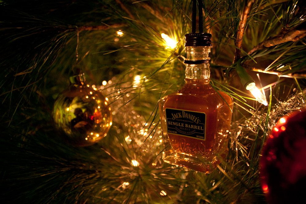 Cute idea for mini liquor bottles! Jack Daniels Ornament-- Jack Daniels  Single Barrel Tennessee Whiskey Themed Christmas Tree Ornament.. $13.00,  via Etsy. - Tennessee Whiskey Ornament-- Tennessee Whiskey Single Barrel Themed