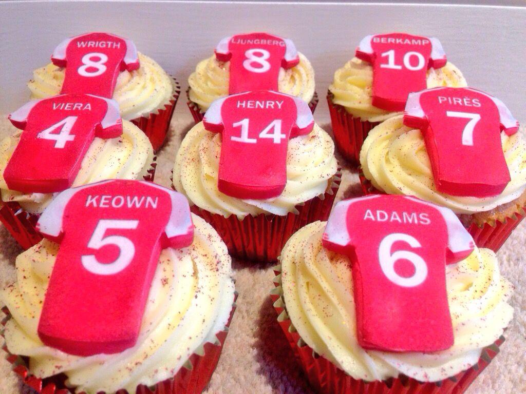 Arsenal Football Shirt Cupcakes Party Cakes Shirt Cake Afternoon Tea