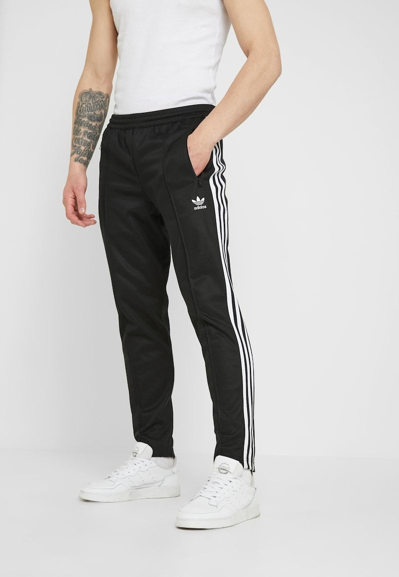 Adidas Originals Beckenbauer Spodnie Treningowe Black Zalando Pl In 2020 Tracksuit Bottoms Sweatpants Tracksuit