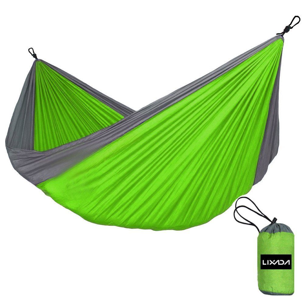 Lixada Portable Durable Compact Nylon Fabric Traveling Camping Hammock for Two Persons *** For more information, visit now : Camping Furniture