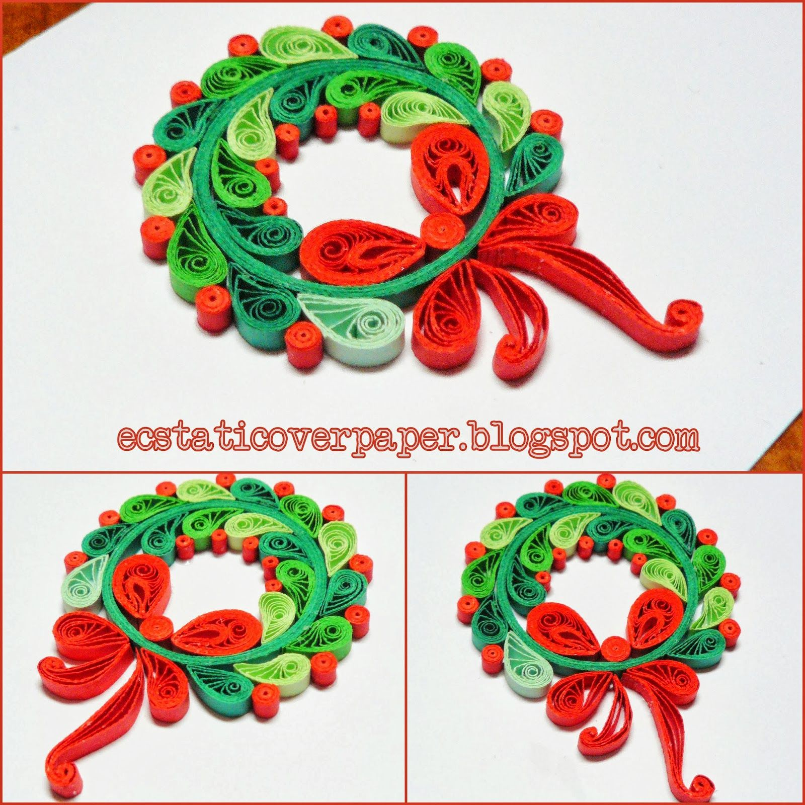 Ecstatic over paper quilled christmas wreath quilling for Deco quilling