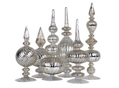 Curtains Ideas curtain rod glass finials : mercury glass finials- want them | Fancy finials | Pinterest ...