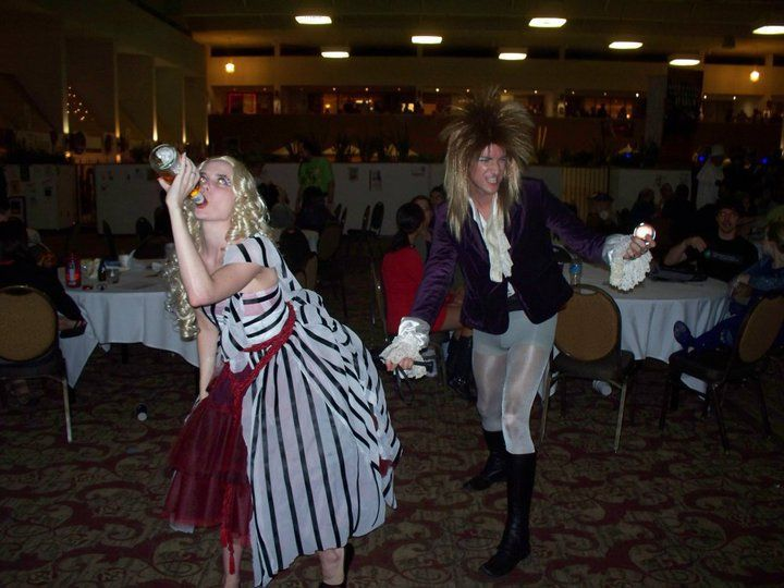 Alice with Jareth - after these sci-fi realms collided we just drank till it made sense