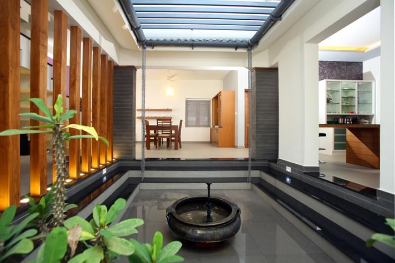 Beautiful houses interior in kerala google search for Interior courtyard design ideas