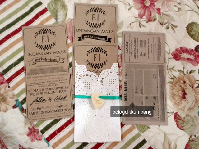 Wedding Review Diy Kad Kahwin Belog Cik Kumbang Kad Kahwin Wedding Invitations Rustic Diy