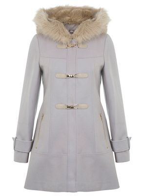 Miss Selfridge Stone duffle coat- at Debenhams.com | Coats ...