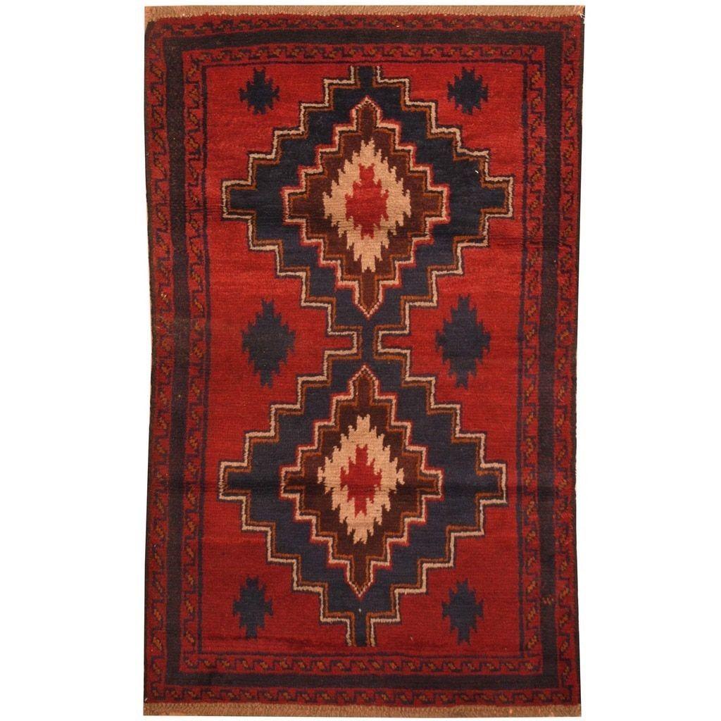 Area Rugs Worldstock Fair Trade Heart Oriental Afghan Tribal Wool Rug 3x5 110