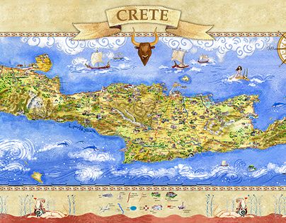 Check out new work on my Behance portfolio Crete Tourist Map