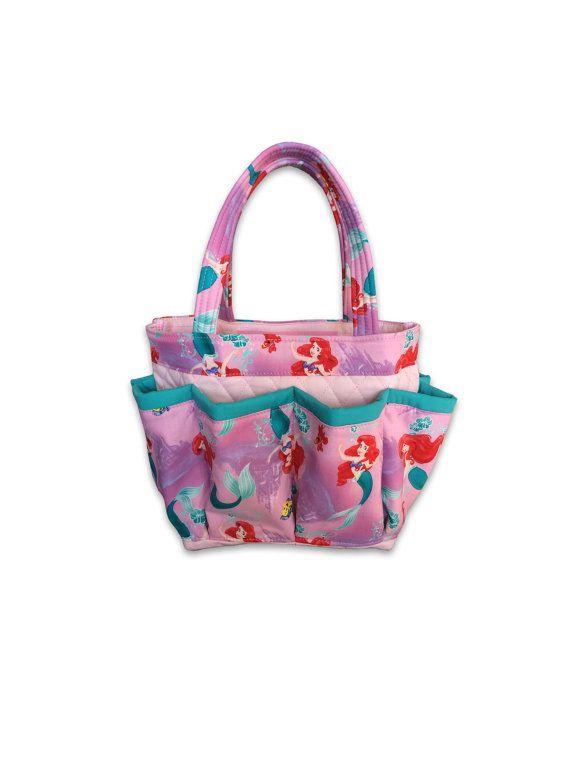 Little Mermaid Bingo Bag // Craft Organizer // Makeup Organizer ...