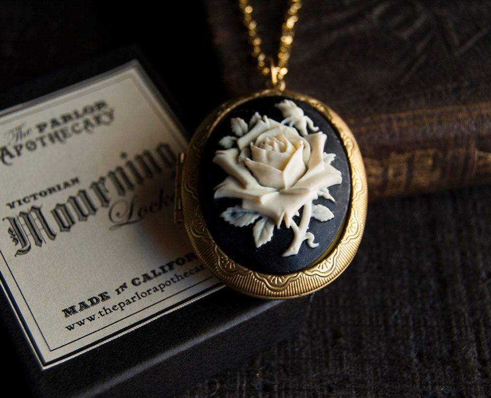 Perfume Locket Necklace with Solid Scent  by TheParlorApothecary, $38.00