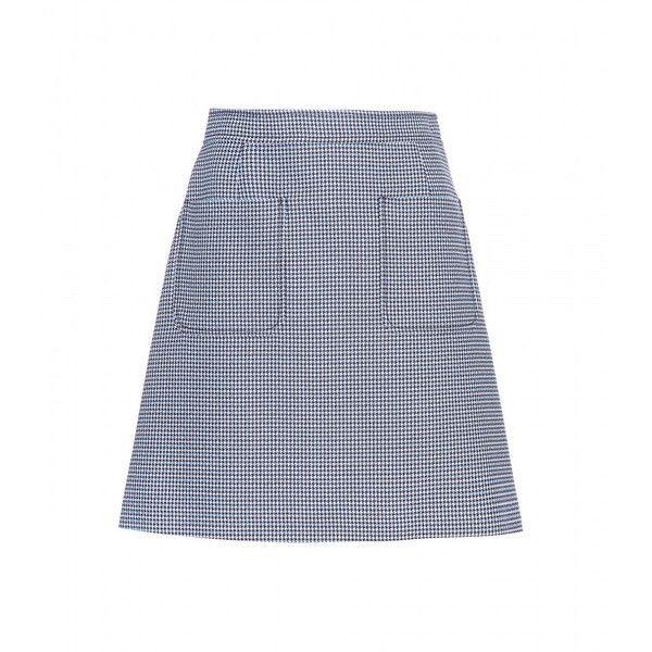 Miu Miu Wool and Cotton Skirt (1 300 AUD) ❤ liked on Polyvore