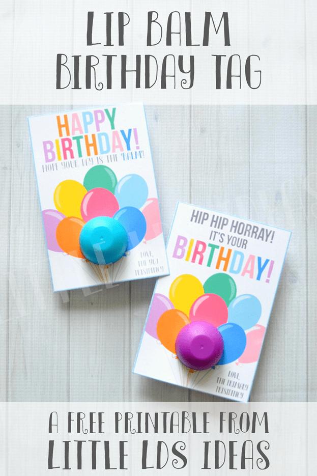 Lip Balm Birthday Tag