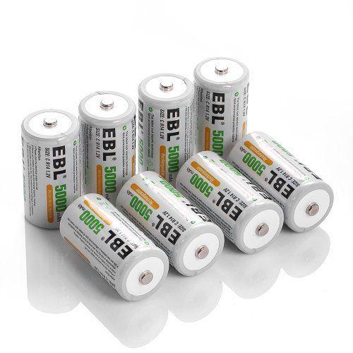 Ebl Rechargeable C Batteries 5 000mah Ni Mh C Size Batter Https Www Amazon Com Dp Rechargeable Batteries Rechargeable Battery Charger Household Batteries