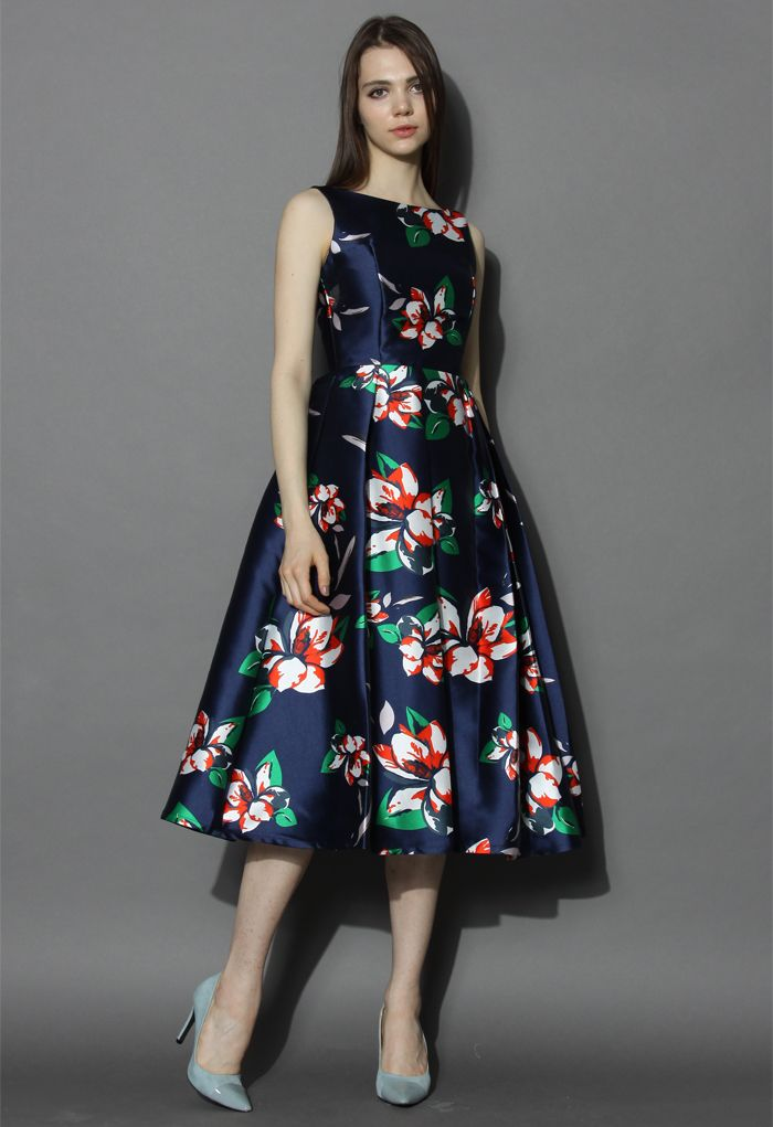 Romantic Era Floral Prom Dress   abelha rainha   Pinterest ...